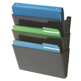 EZ Link Sustainable DocuPocket® - 3 Pockets - Letter - Black - Recycled