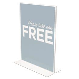 "Classic Image® Double Sided Sign Holder - Portrait - 8.5"" x 11"" - Value Pack"