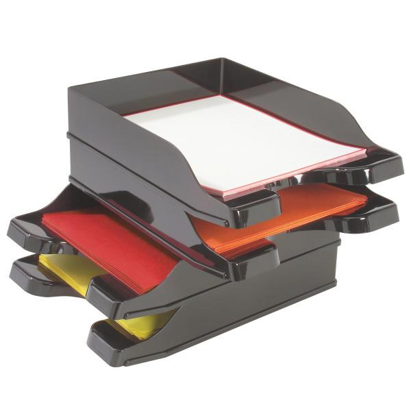 DocuTray® Multi-Directional Stacking Desk Tray Set - Black