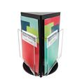 3-Sided Rotating Countertop Display - Magazine - Black/Clear