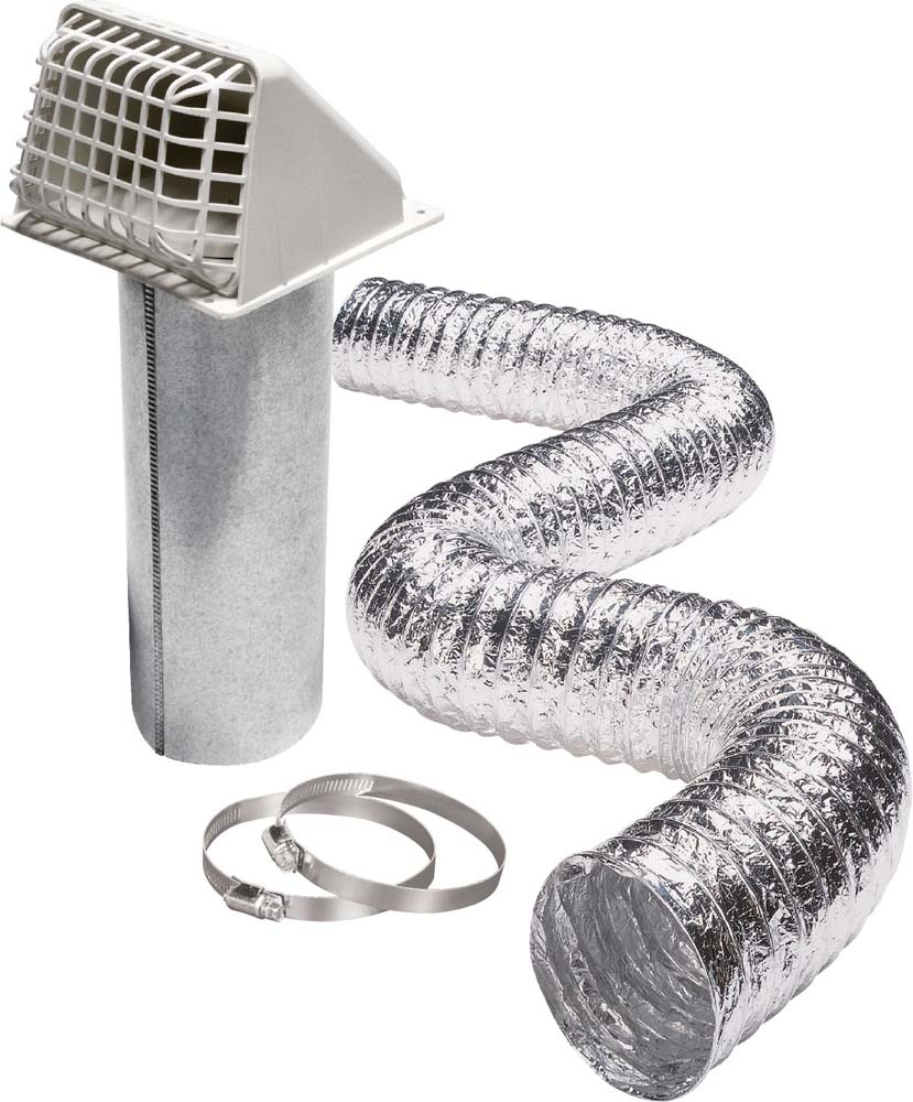 Airtight™ Galvanized Pipe with Wide Mouth Plastic Hood and Pest Guard Kit