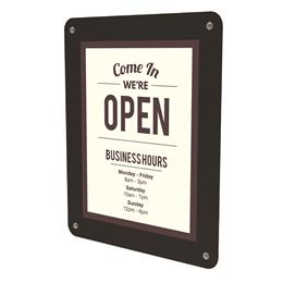 "Window Display w/ Suction Cups - 8.5"" x 11"" - Black"