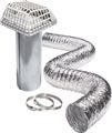 Airtight™ Galvanized Pipe with Louvered Plastic Hood and Pest Guard Kit