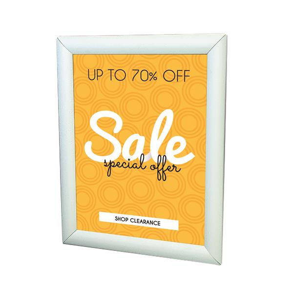 Single-Sided LED Wall Mount Display Frame - 8.5