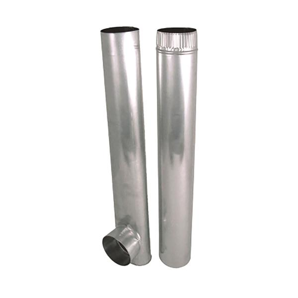 Skinny Duct Aluminum Dryer Vent 4 Oval W 4 Round Take Off