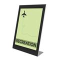 Superior Image® Slanted Sign Holder w/Border