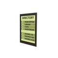 "Superior Image® Wall Mount Black Border Sign Holder - 8.5"" x 11"""