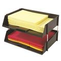 Industrial Tray Side-Load Stacking Tray - 2 Tray Set - Black
