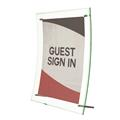 "Superior Image® Curved Edge Sign Holder - 8.5"" x 11"" -  Green Edge"